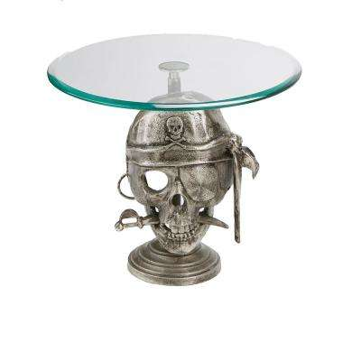 21 in. Tier Silver Metal Cake Stand Party Cake Display, Cupcake Display
