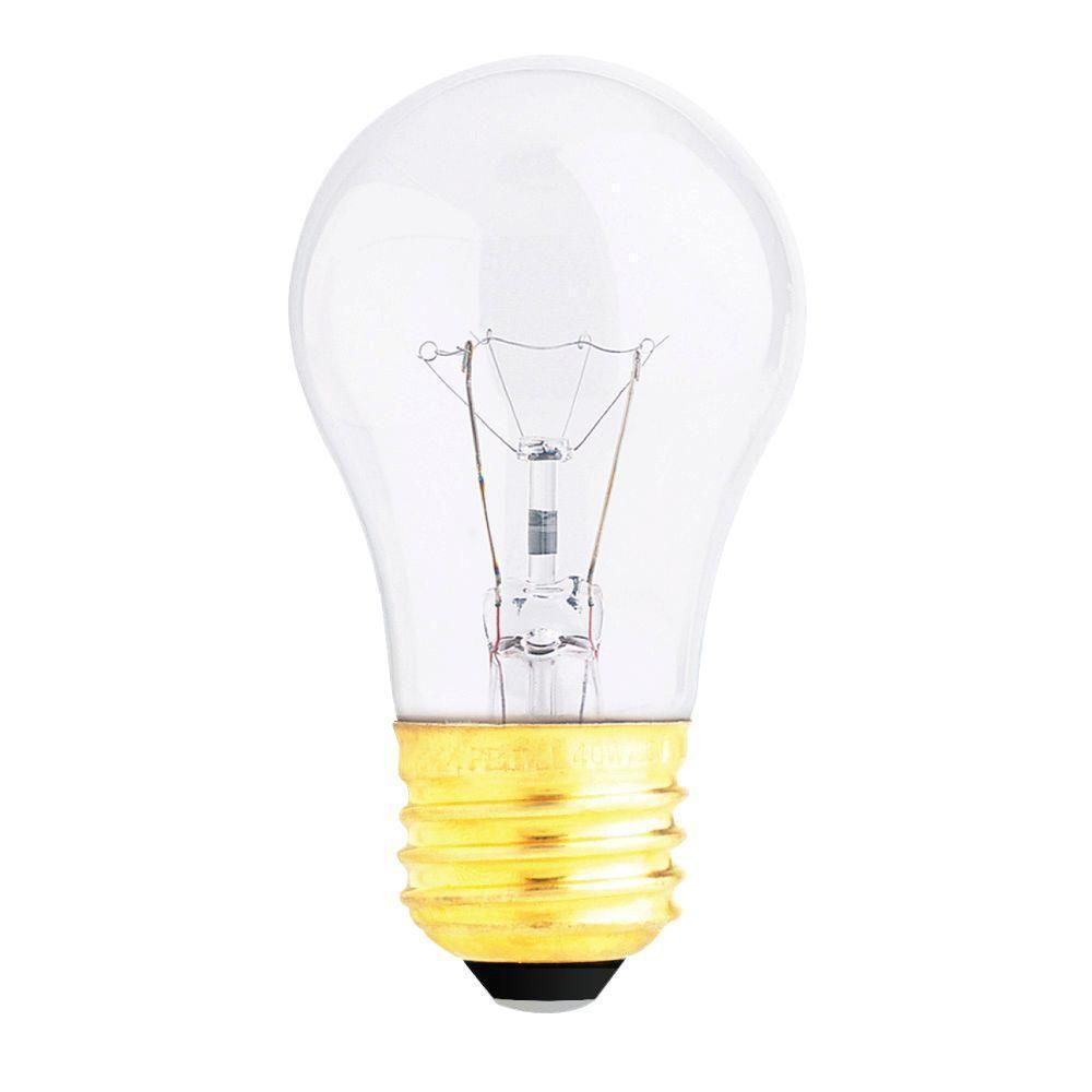 40-Watt Soft White Dimmable Incandescent A15 Clear Light Bulb Maintenance Pack (60-Pack)