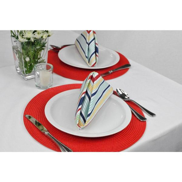 Dii Red Round Woven Placemat Set Of 6