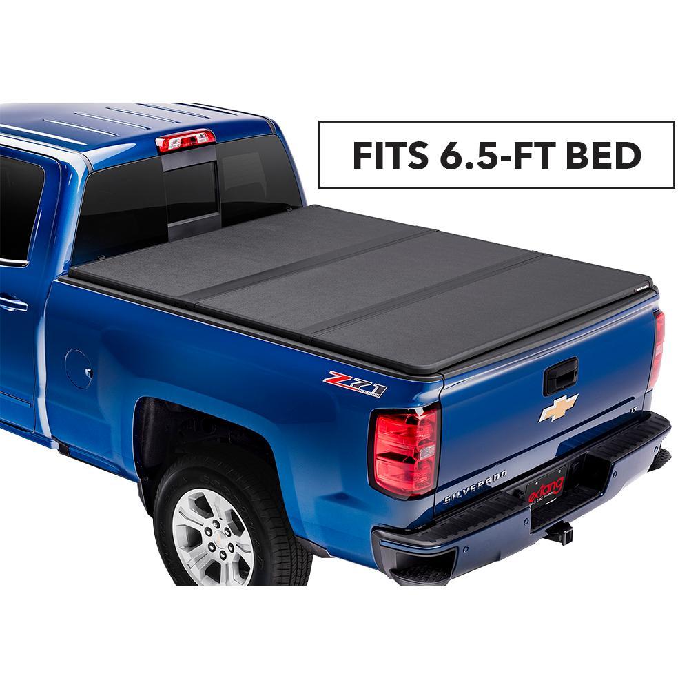 """Solid Fold 2.0 Tonneau Cover - 14-18 (19 Legacy/Limited) Chevy Silverado/GMC Sierra 1500/15-19 2500HD/3500HD 6'6"""" Bed"""