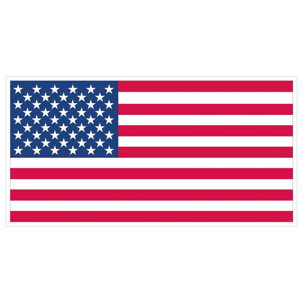 5b0385f6c708 Amscan 33.5 in x 65 in. Giant American Flag Banner (5-Pack)-120272 ...