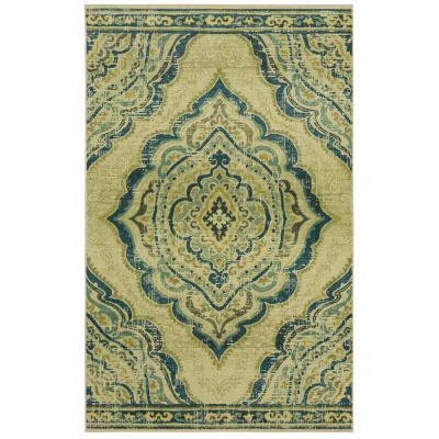 Mohawk Home Eastern Heights Blue 10 ft. x 14 ft. Indoor Area Rug
