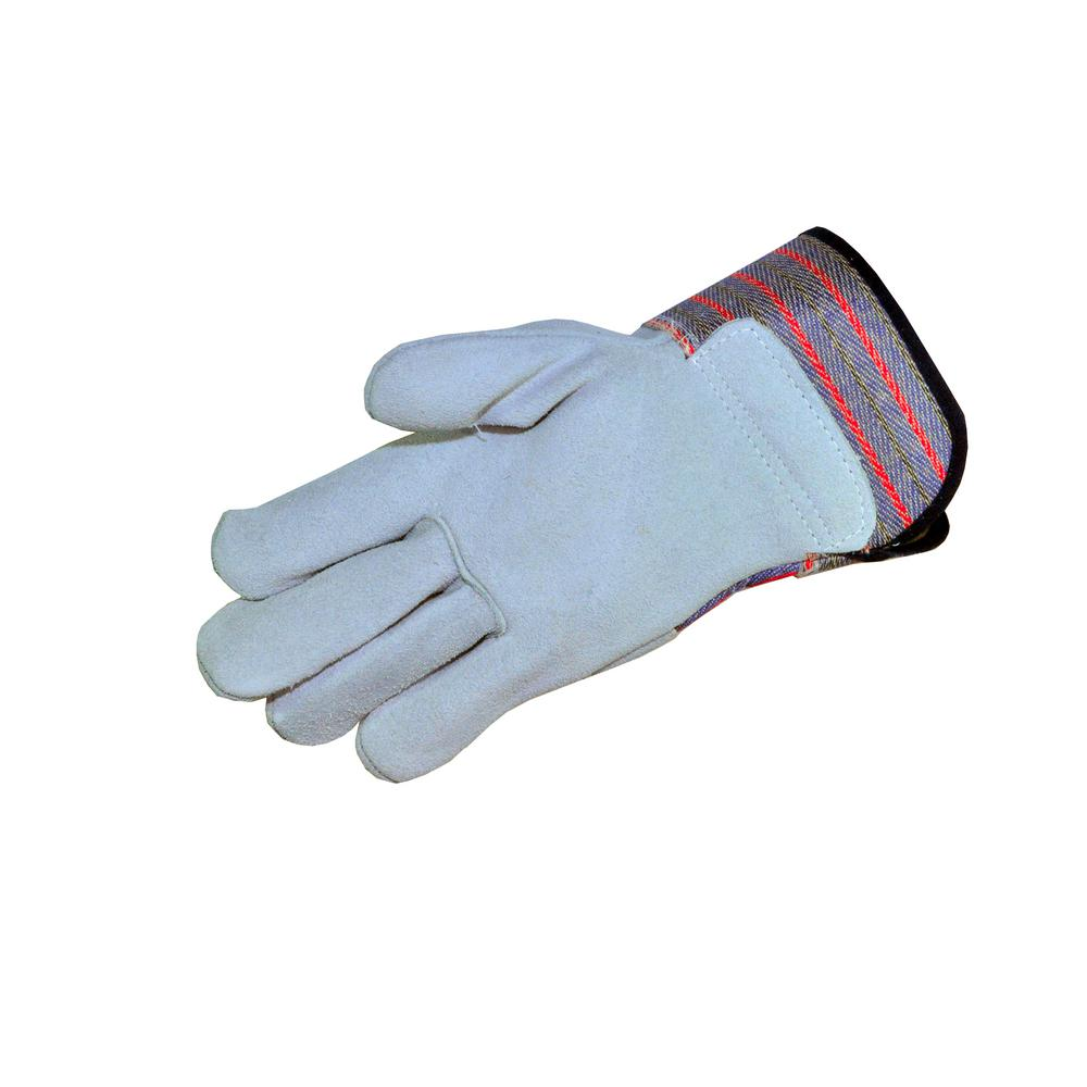 Premium A+ Grade Cowhide Leather Palm Work Gloves with Ru...