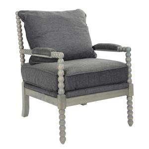 Fine Osp Home Furnishings Abbot Charcoal Fabric Chair With Spiritservingveterans Wood Chair Design Ideas Spiritservingveteransorg
