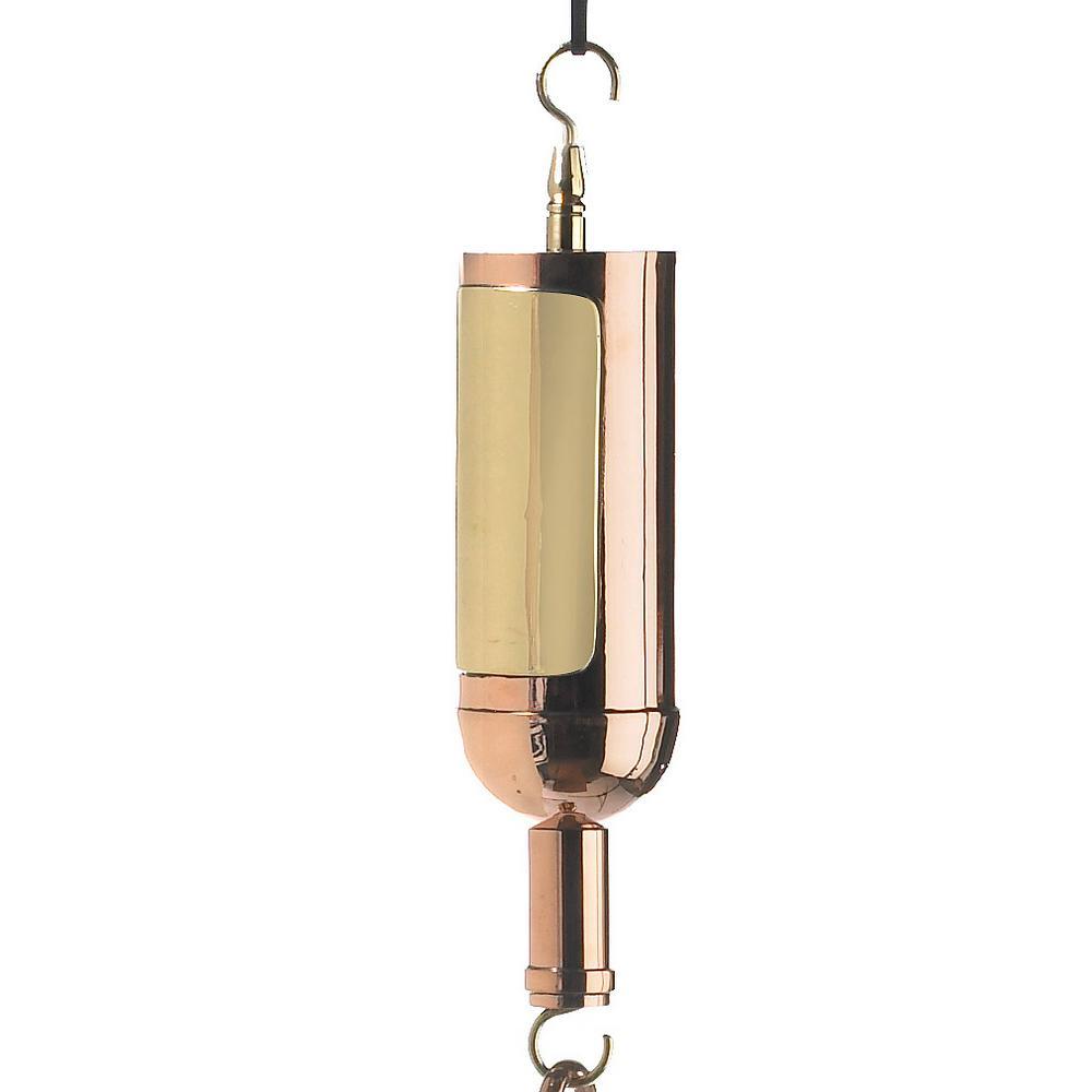 Wine Bottle Pure Copper Rain Chain Leader