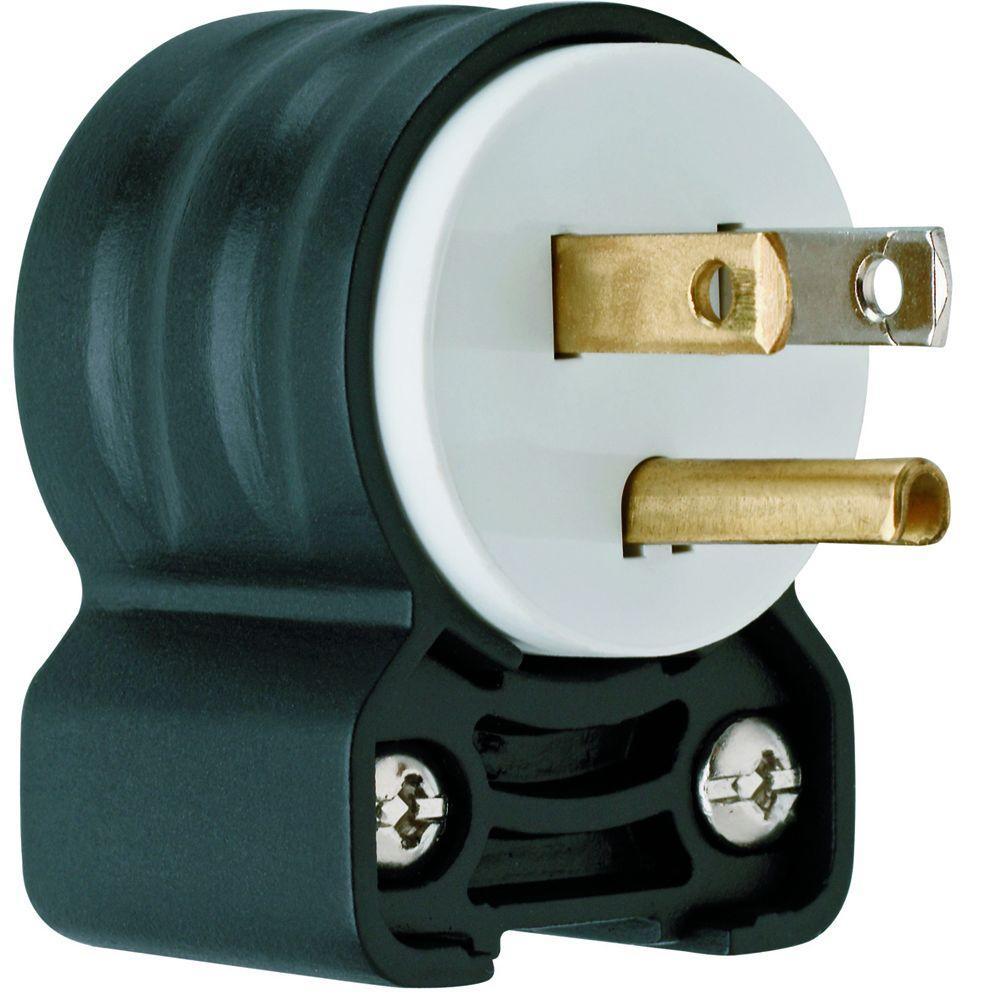 Pass & Seymour Extra-Hard Use 15 Amp 125-Volt NEMA 5-15P Angled Straight Blade Plug