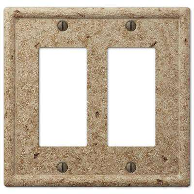 Textured Stone 2 Decora Wall Plate - Light Noche