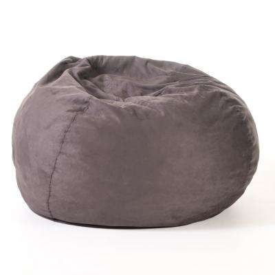 Ellianna Charcoal Microfiber 5-Foot Bean Bag