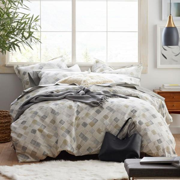 Cstudio Home by The Company Store Silver Lining 2-Piece Organic Cotton