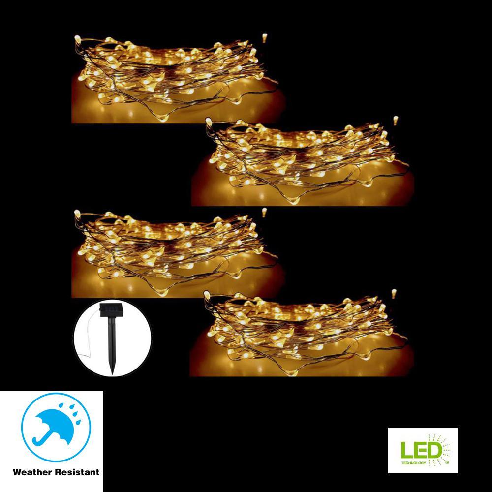 12W 20M//65.6Ft 200 LEDs Solar Powered Energy Copper Wire Fairy String Light C2C0