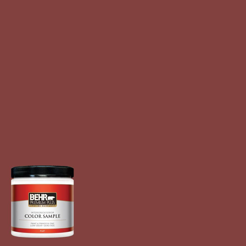S H 170 Red Brick Flat Interior Exterior Paint And Primer In One Sample