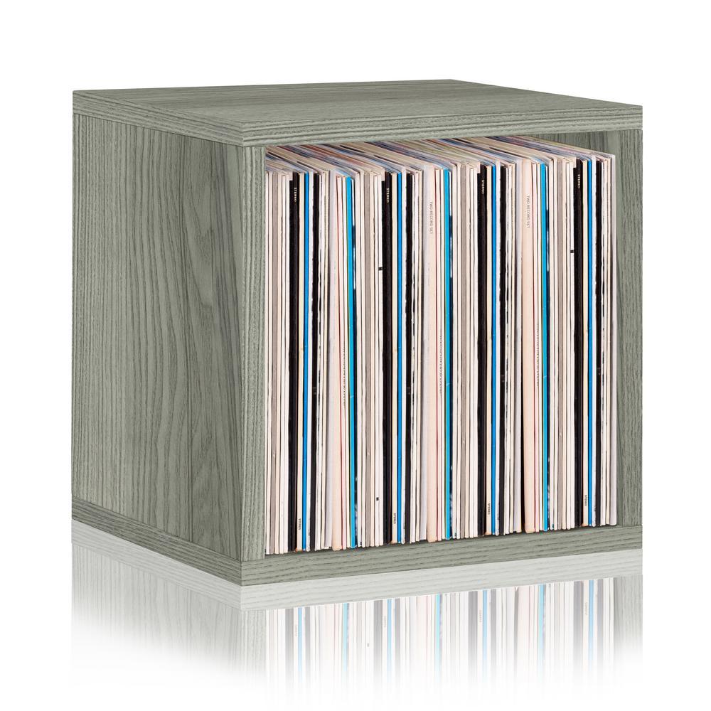 zBoard Grey Stackable Vinyl Record and LP Record Album Storage Cube