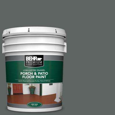 5 gal. #BXC-41 Charcoal Low-Lustre Enamel Interior/Exterior Porch and Patio Floor Paint