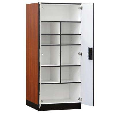32 in. W x 76 in. H x 24 in. D Standard Wood Designer Storage Cabinet Assembled in Cherry