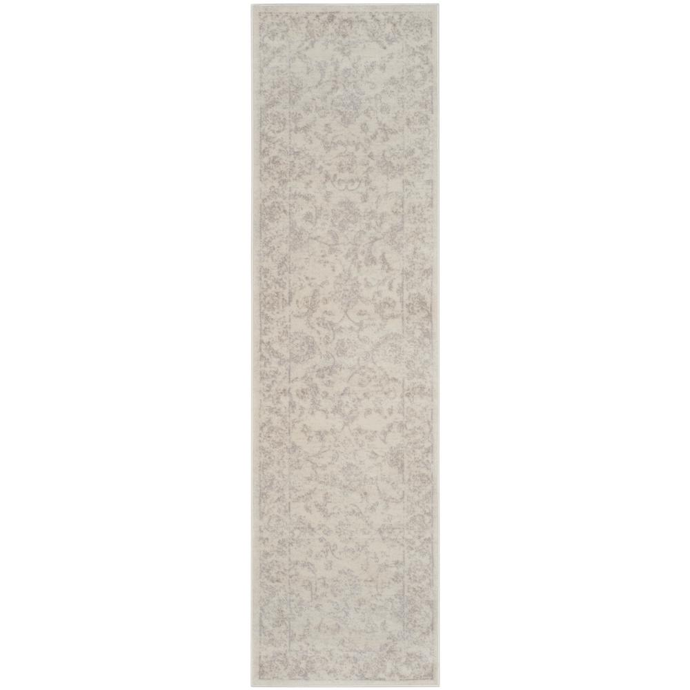Safavieh Carnegie Cream/Light Gray 2 ft. x 12 ft. Runner Rug