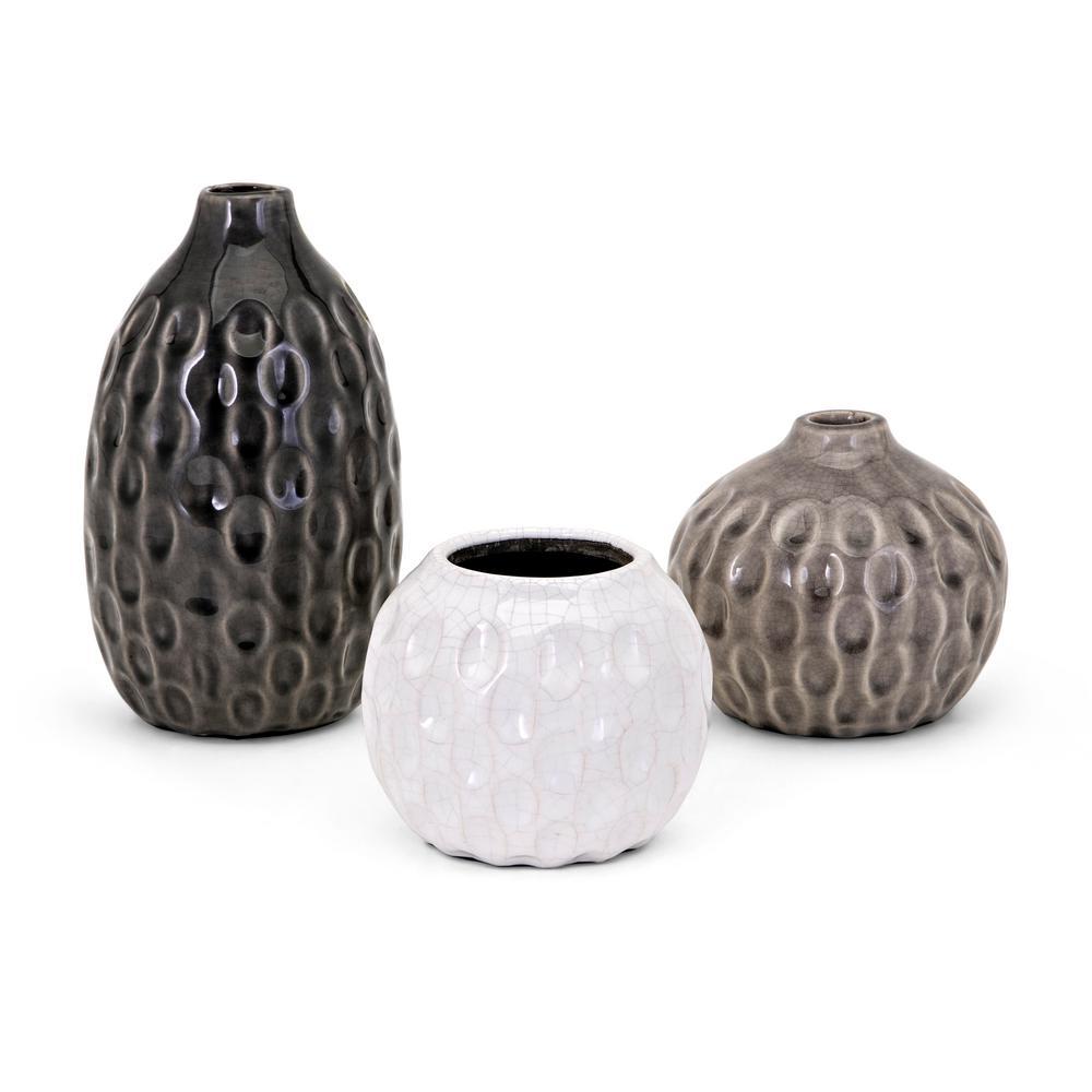 Essary multi ceramic decorative vases 13336 3 the home depot essary multi ceramic decorative vases reviewsmspy