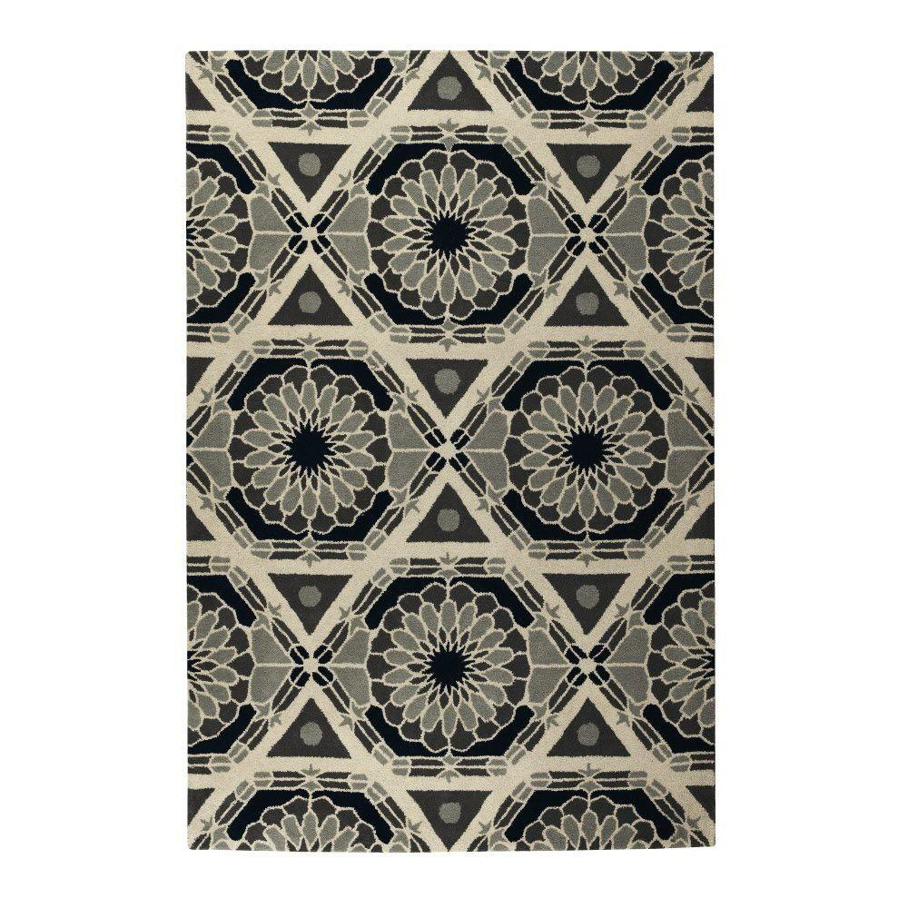 Home Decorators Collection Raffles Grey 5 ft. 3 in. x 8 ft. Area Rug