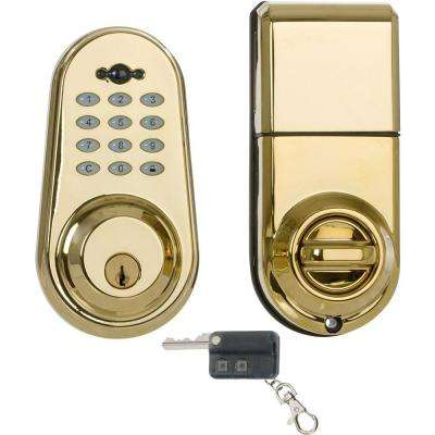 Best of Single Cylinder Lifetime Brass Electronic Deadbolt Contemporary - Style Of Residential Door Locks Idea
