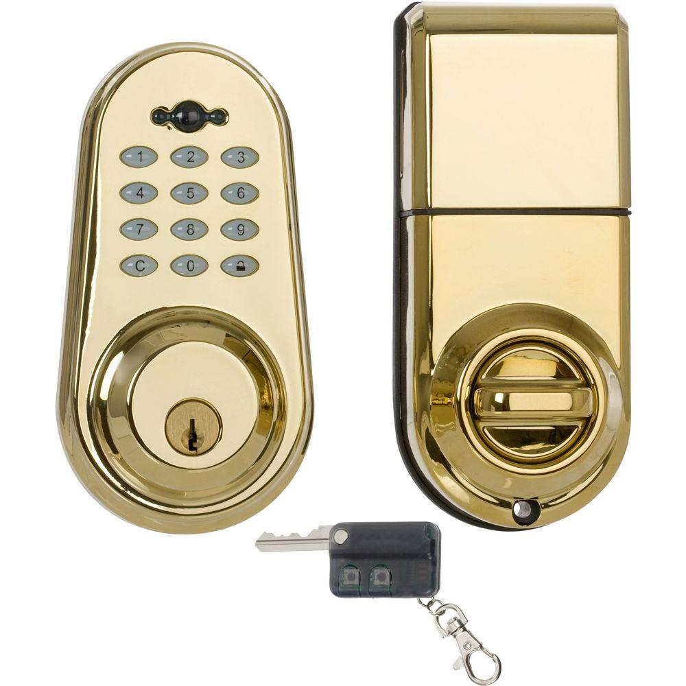 Privex Single Cylinder Lifetime Brass Electronic Deadbolt
