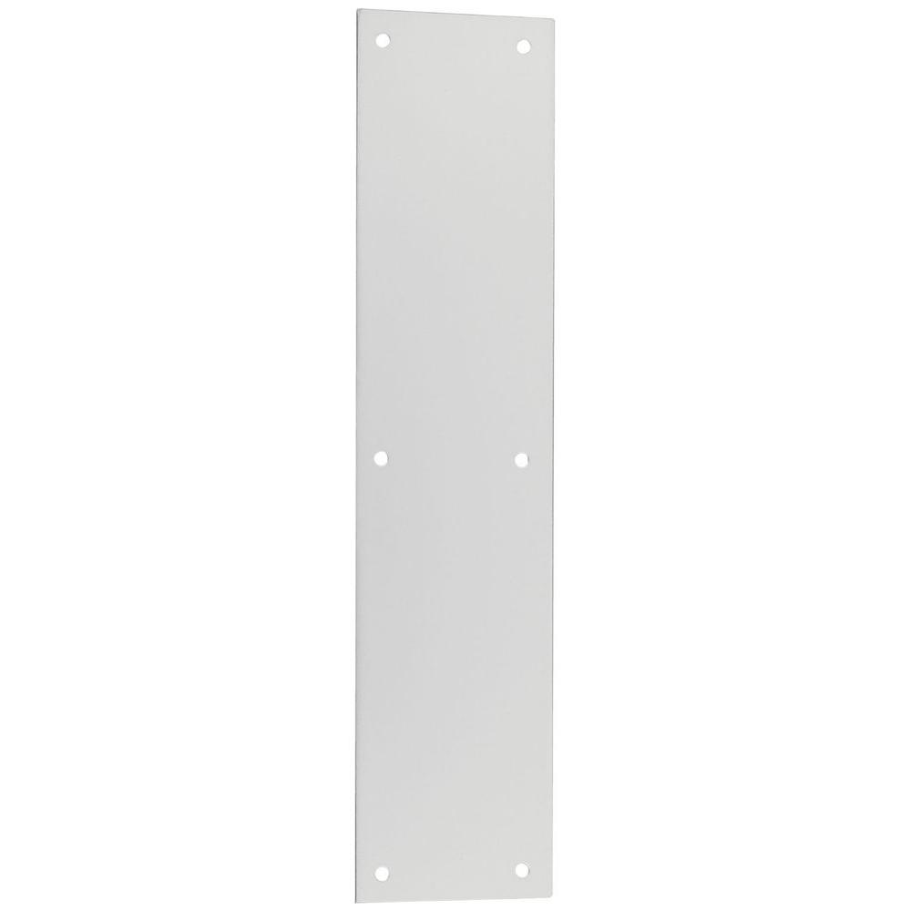 National Hardware 3-1/2 in. x 15 in. Satin Nickel Pull Plate