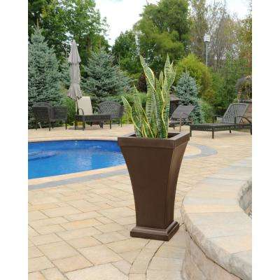 Bordeaux 28 in. Espresso Plastic Tall Planter