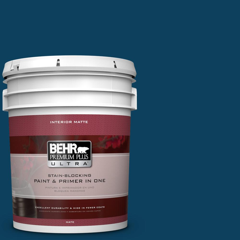 5 gal. #ECC-53-3 Outer Space Matte Interior Paint and Primer in