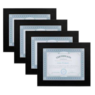 Museum 8.5 in. x 11 in. Black Picture Frame (Set of 4)