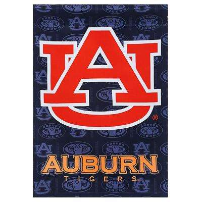 2.4 ft. x 3.5 ft. Auburn University Two-Sided Glitter Accented House Flag