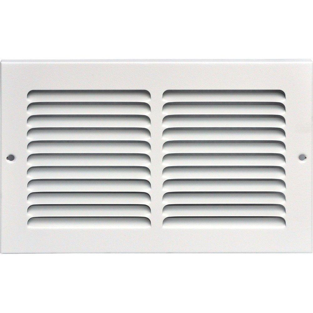 SPEEDI-GRILLE 10 in. x 6 in. Return Air Vent Grille, White with Fixed Blades