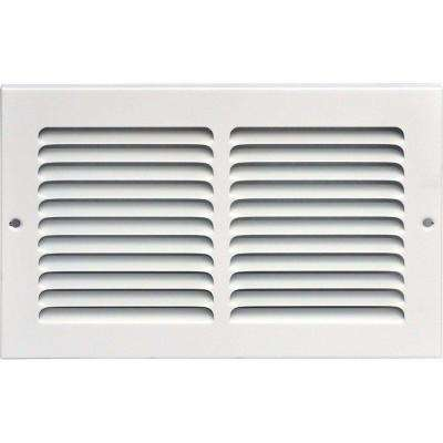 10 in. x 6 in. Return Air Vent Grille, White with Fixed Blades