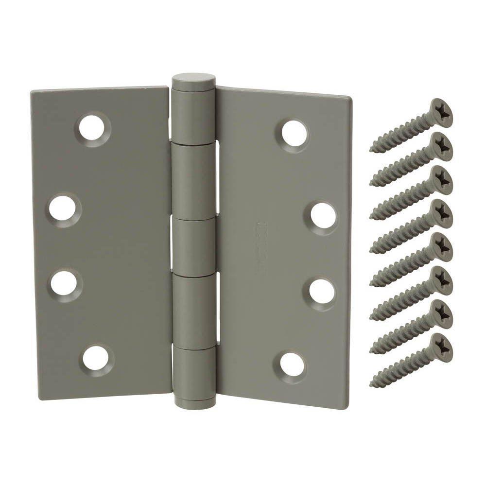 4 in. x 4 in. Prime Coated Commercial Grade Door Hinge