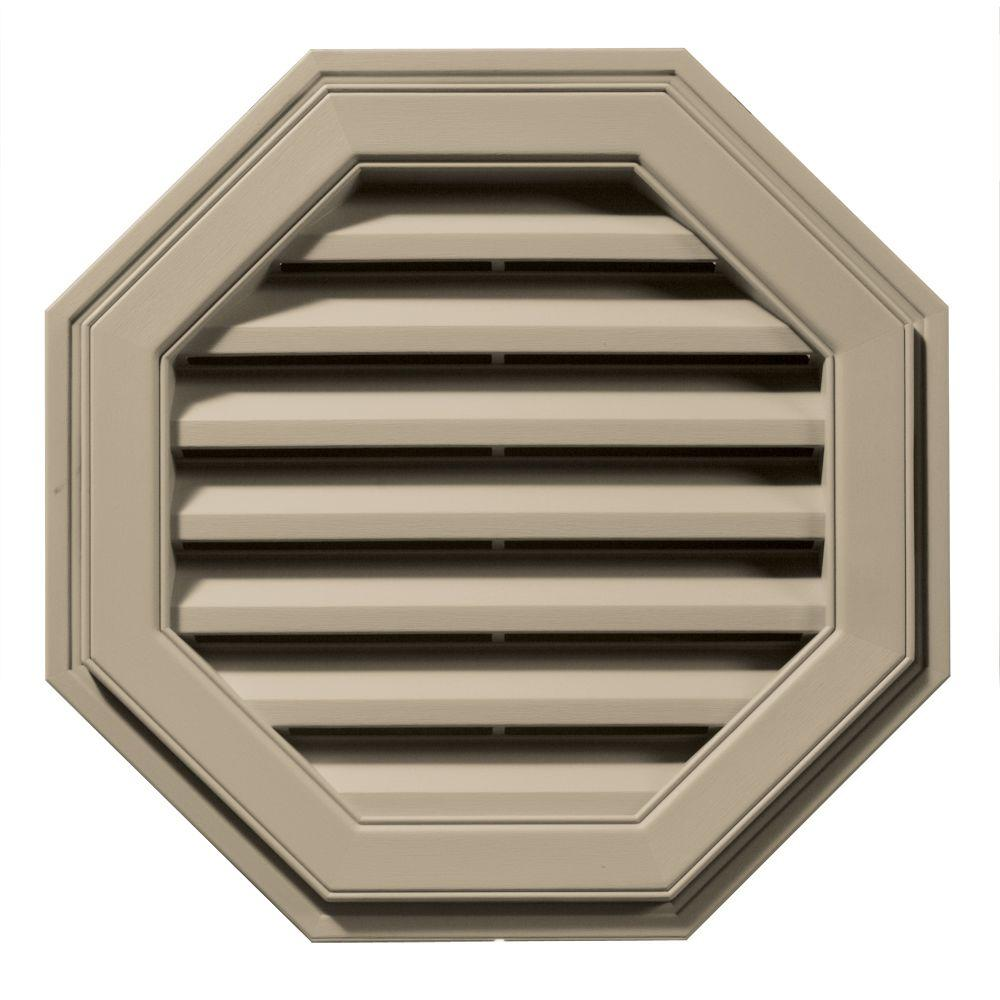 Builders Edge 22 in. Octagon Gable Vent in Clay