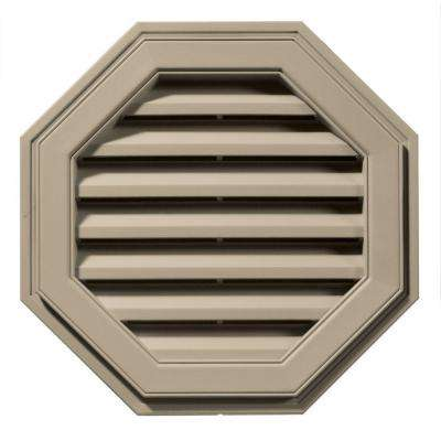 22 in. Octagon Gable Vent in Clay