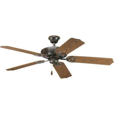 Indoor or outdoor antique bronze ceiling fan