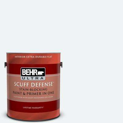 1 gal. #BL-W09 Bakery Box Extra Durable Flat Interior Paint and Primer in One
