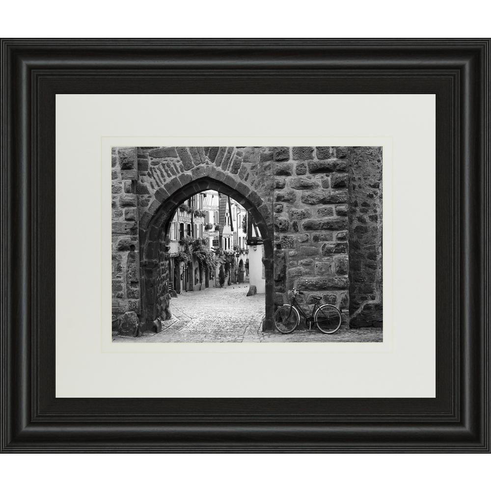 Bicycle of riquewihr by monte nagler framed printed wall art dm5353 the home depot