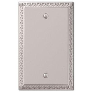 georgian 1 blank wall plate nickel