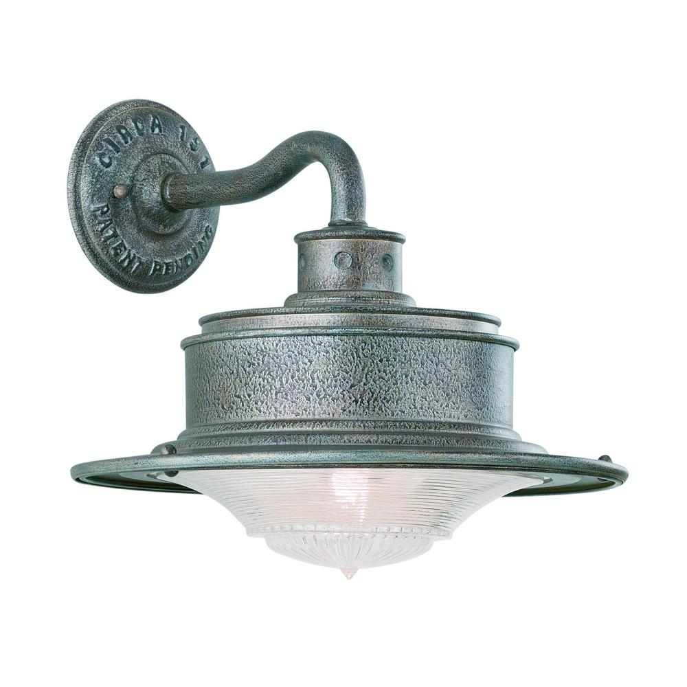 Troy Lighting South Street Old Galvanized Outdoor Wall Lantern Sconce
