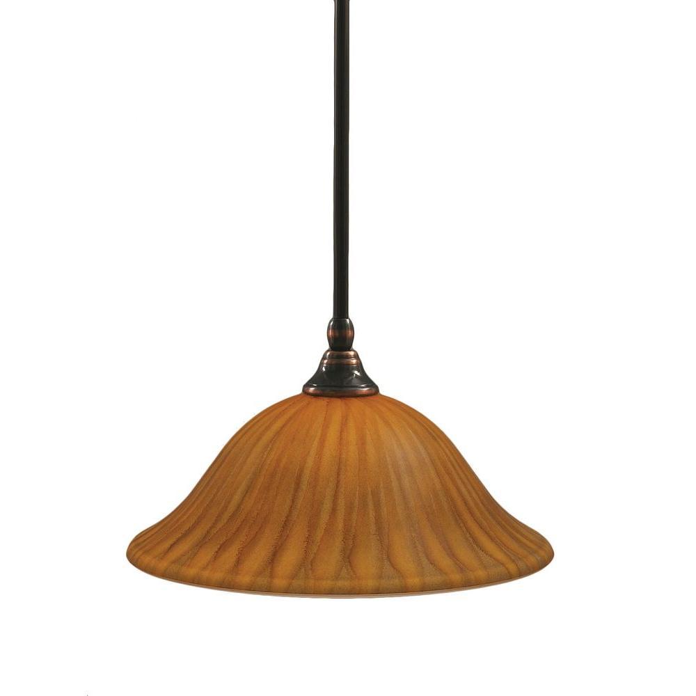 Concord 1-Light Black Copper Incandescent Ceiling Pendant