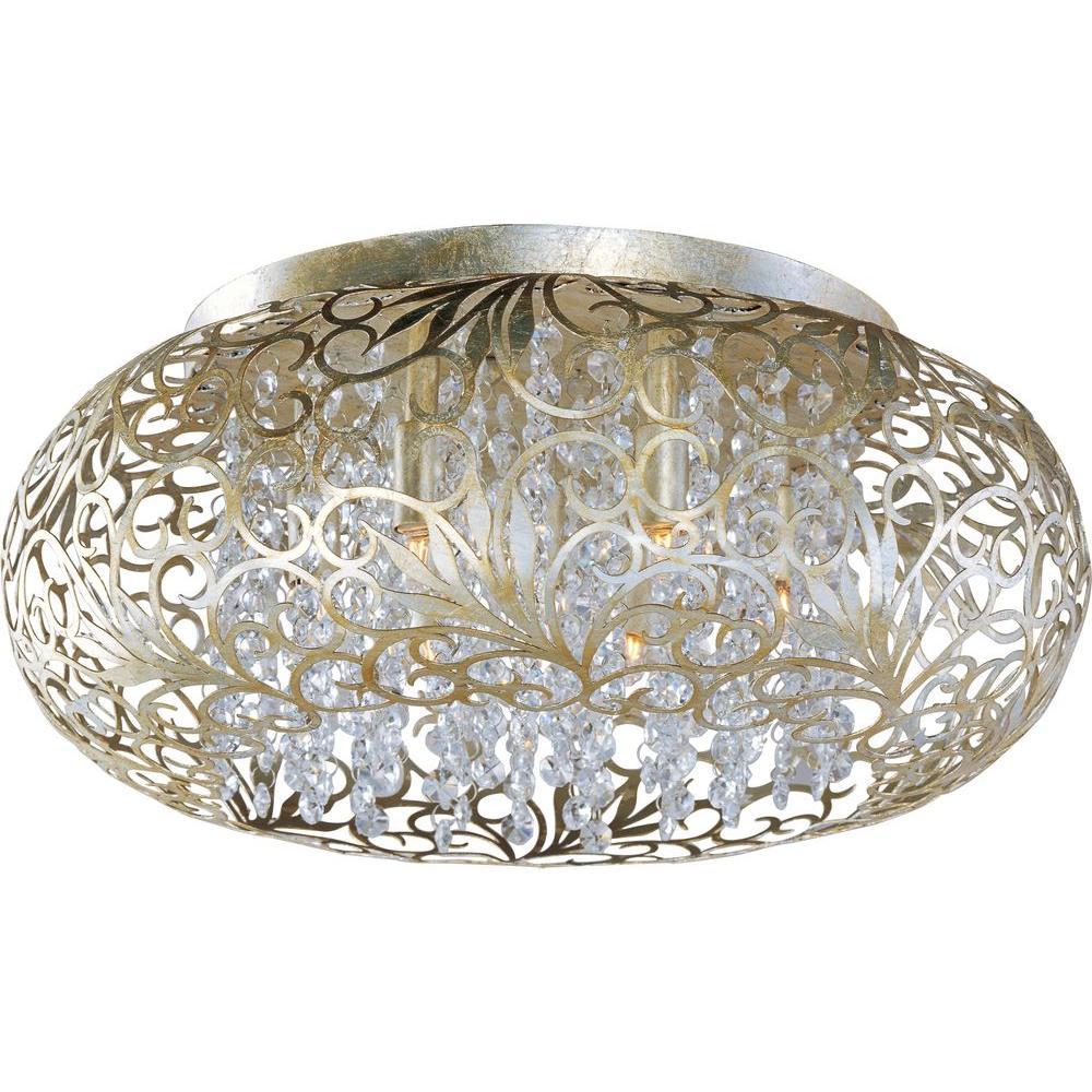 Arabesque 7-Light Golden Silver Flushmount