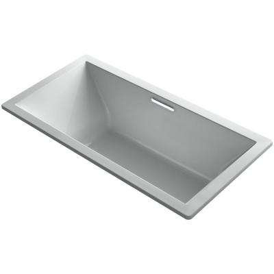 Underscore 6 ft. Acrylic Rectangular Drop-in or Undermount Non-Whirlpool Bathtub in Ice Grey