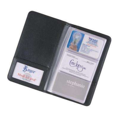 Business Card Case File Organizer in Genuine Leather