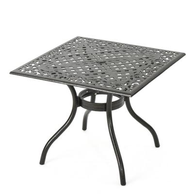 Square Aluminum Outdoor Dining Table