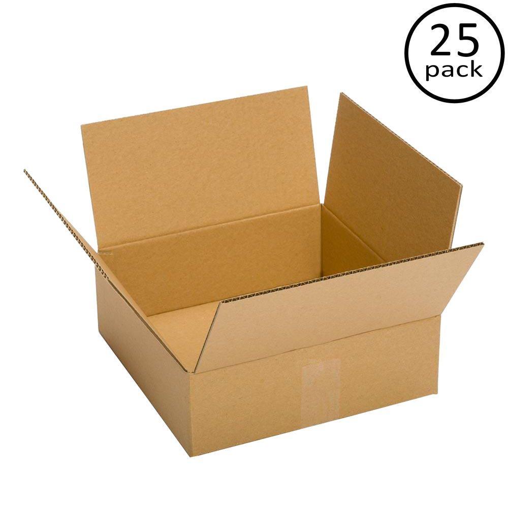 12 in. L x 12 in. W x 3 in. D Box (25-Pack)