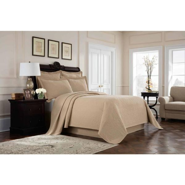 Royal Heritage Home Williamsburg Richmond Linen Twin Coverlet 048975018026