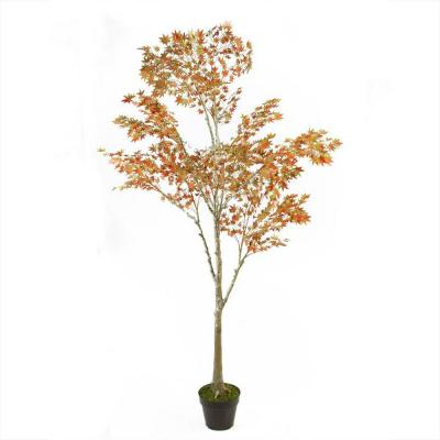 5.5 ft. Potted Fall Harvest Artificial Orange Dream Japanese Maple Tree