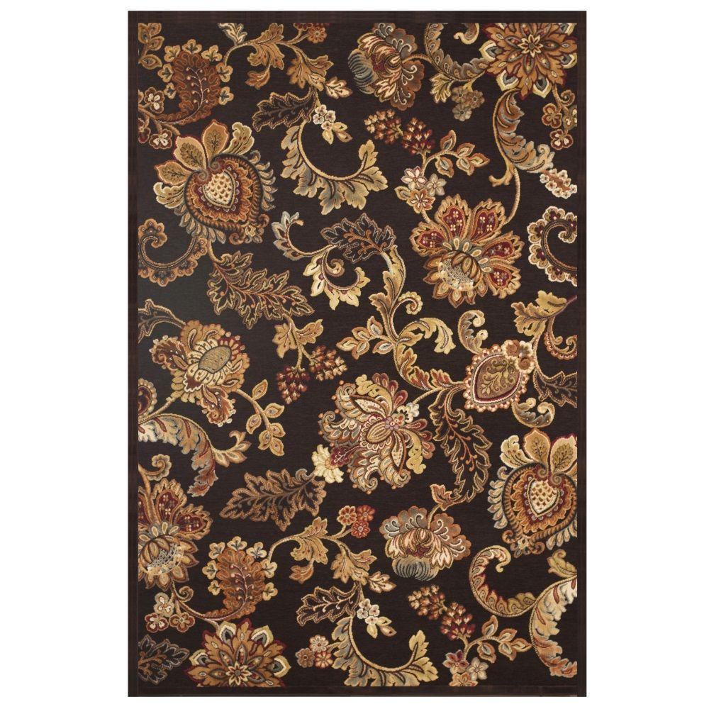 Sams international napa fulton chocolate 5 ft 3 in x 7 for International home decor rugs