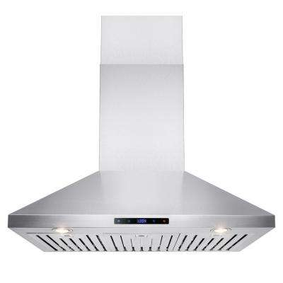 36 in. Convertible Kitchen Wall Mount Range Hood in Stainless Steel with Touch Control