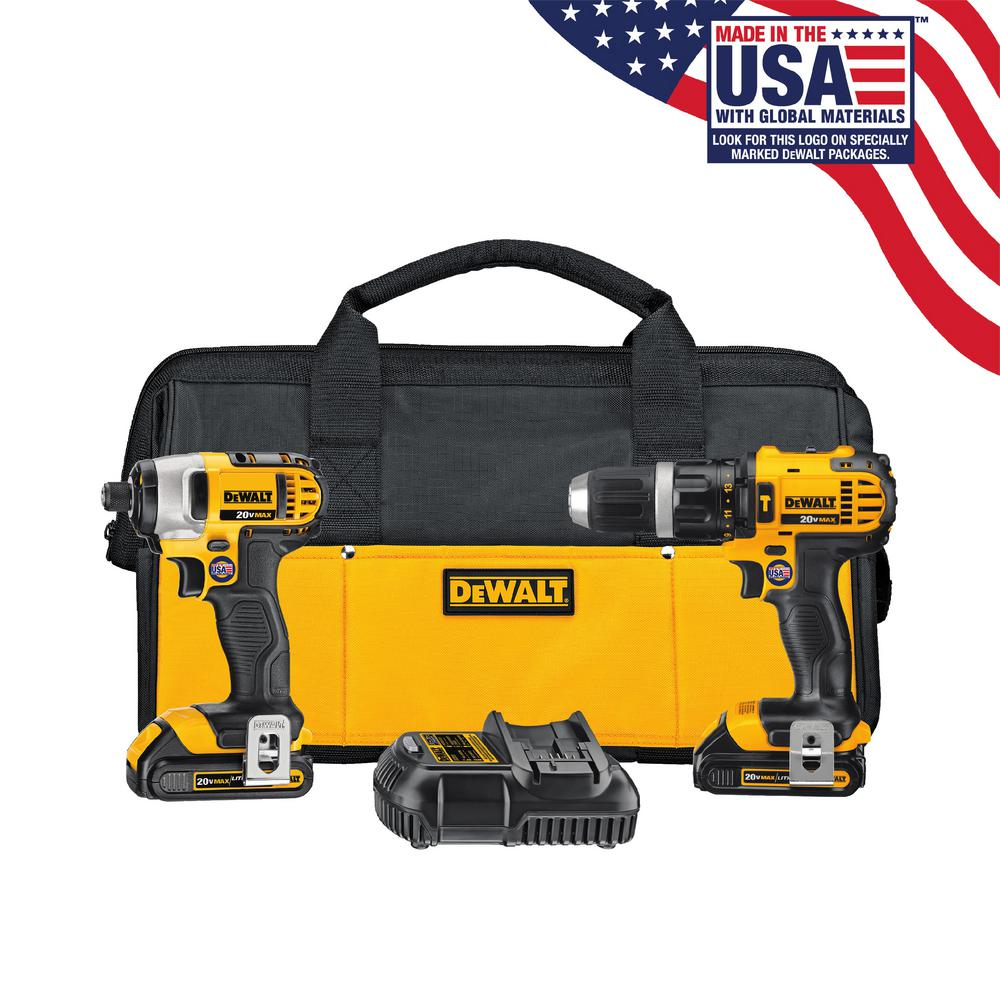 20-Volt MAX Lithium-Ion Cordless Hammer Drill/Impact Driver Combo Kit (2-Tool)