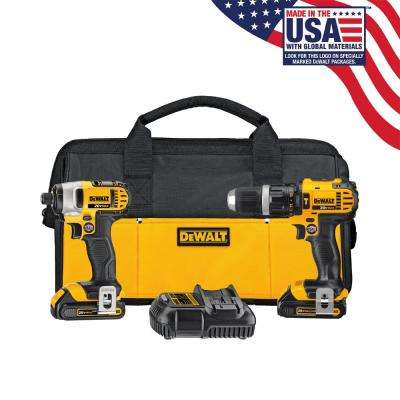 20-Volt MAX Lithium-Ion Cordless Hammer Drill/Impact Driver Combo Kit (2-Tool) with (2) Batteries 1.5Ah, Charger and Bag